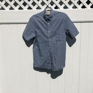 OLD NAVY Blue/White Cotton Button Down